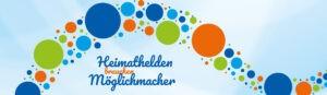 """Emblem der Spendenaktion """"heimathelden"""" der Volksbank Bochum Witten"""
