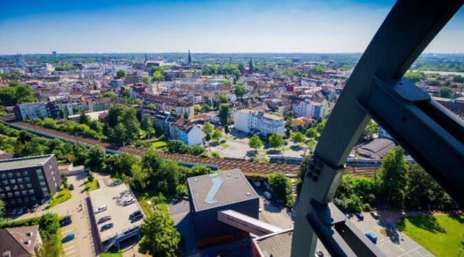 Luftaufnahme von Bochum